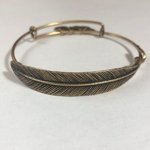 The Original ALEX AND ANI Quill Feather Wrap, Gold